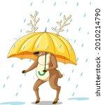 Reindeer Carries An Umbrella...