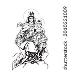 our lady of mount carmel...   Shutterstock .eps vector #2010221009