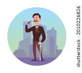 victorian gentleman with... | Shutterstock .eps vector #2010226826
