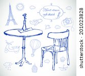 hand drawn travel icons. vector ... | Shutterstock .eps vector #201023828