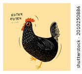 Sketch Drawing Chicken Black...