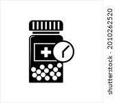 time to take medication icon ... | Shutterstock .eps vector #2010262520