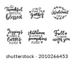 welcome fall. thankful ... | Shutterstock .eps vector #2010266453