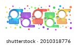 multicolor corporate vector...   Shutterstock .eps vector #2010318776