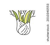 fennel  olor line icon....