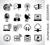 communication icons  network... | Shutterstock .eps vector #201034490
