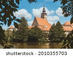 telc in summer  old town. czech ... | Shutterstock . vector #2010355703