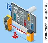 Isometric Parking Lot Displayed ...
