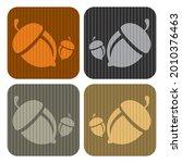 oak nut vector icon. oak acorns ...   Shutterstock .eps vector #2010376463