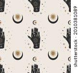 seamless pattern.esoterics... | Shutterstock .eps vector #2010381089