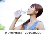 women who drink water | Shutterstock . vector #201038270