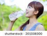 women who drink water | Shutterstock . vector #201038300
