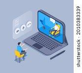 isometric vector illustration... | Shutterstock .eps vector #2010383339