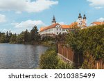 telc castle and pond in summer  ... | Shutterstock . vector #2010385499