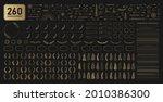 set of 260 golden design... | Shutterstock .eps vector #2010386300