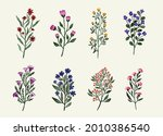 set collection of watercolor...   Shutterstock .eps vector #2010386540