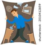 man suffering from fear of... | Shutterstock .eps vector #2010412859