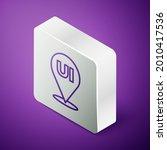 isometric line ui or ux design...