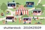 summer food market festival map ...   Shutterstock .eps vector #2010425039