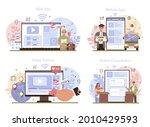 travel agency services online... | Shutterstock .eps vector #2010429593
