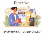 professional detective concept. ... | Shutterstock .eps vector #2010429680