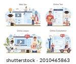 robotics school course online...   Shutterstock .eps vector #2010465863