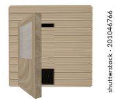 wooden sauna isolated over... | Shutterstock . vector #201046766