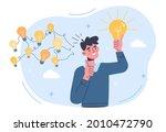 gather ideas concept. man came... | Shutterstock .eps vector #2010472790