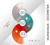 abstract business info graphics ... | Shutterstock .eps vector #201048764