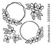 Wreaths Wedding Monochrome...