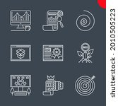 seo related vector line icons...   Shutterstock .eps vector #2010505223