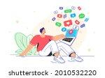 social media symbols and...   Shutterstock .eps vector #2010532220