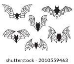 Set Of Flock Of Bats....