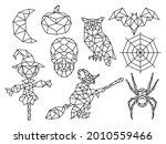 Set Of Halloween Polygon....