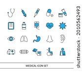 medical illustration icon set ... | Shutterstock .eps vector #2010562493