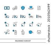insurance illustration icon set ... | Shutterstock .eps vector #2010562499