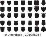 vector black shields set  35...