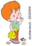 boy with sweets   Shutterstock .eps vector #2010594