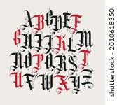 full set of capital letters of...   Shutterstock .eps vector #2010618350