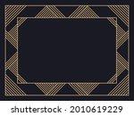 art deco frame. vintage linear... | Shutterstock .eps vector #2010619229