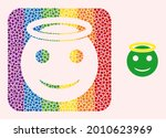 dotted mosaic holy smiley hole...   Shutterstock .eps vector #2010623969