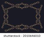 art deco frame. vintage linear... | Shutterstock .eps vector #2010646010