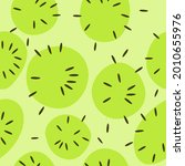 kiwi fruits seamless pattern....   Shutterstock .eps vector #2010655976