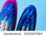 toothbrush close up on a blue...   Shutterstock . vector #2010659483