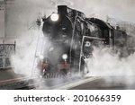 retro steam train departs from... | Shutterstock . vector #201066359