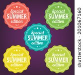 summer offer stickers. special... | Shutterstock .eps vector #201067160