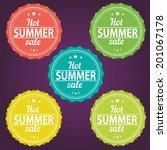 summer sale stickers | Shutterstock .eps vector #201067178