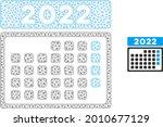 mesh 2022 month calendar model... | Shutterstock .eps vector #2010677129