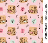 doodle bicycle colorful...   Shutterstock .eps vector #2010680189