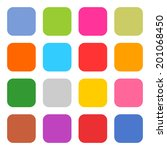 16 blank icon rounded square...